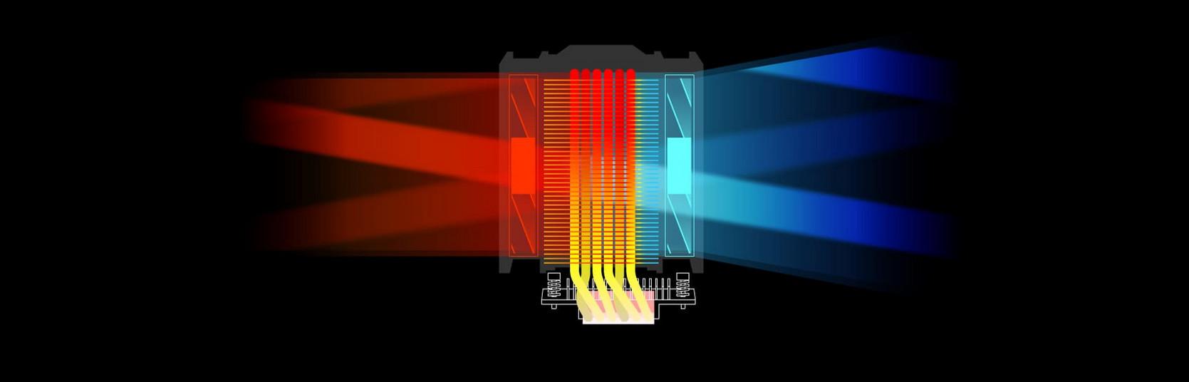Hệ thống LED của Tản nhiệt khí Cooler Master MasterAir MA612 Stealth