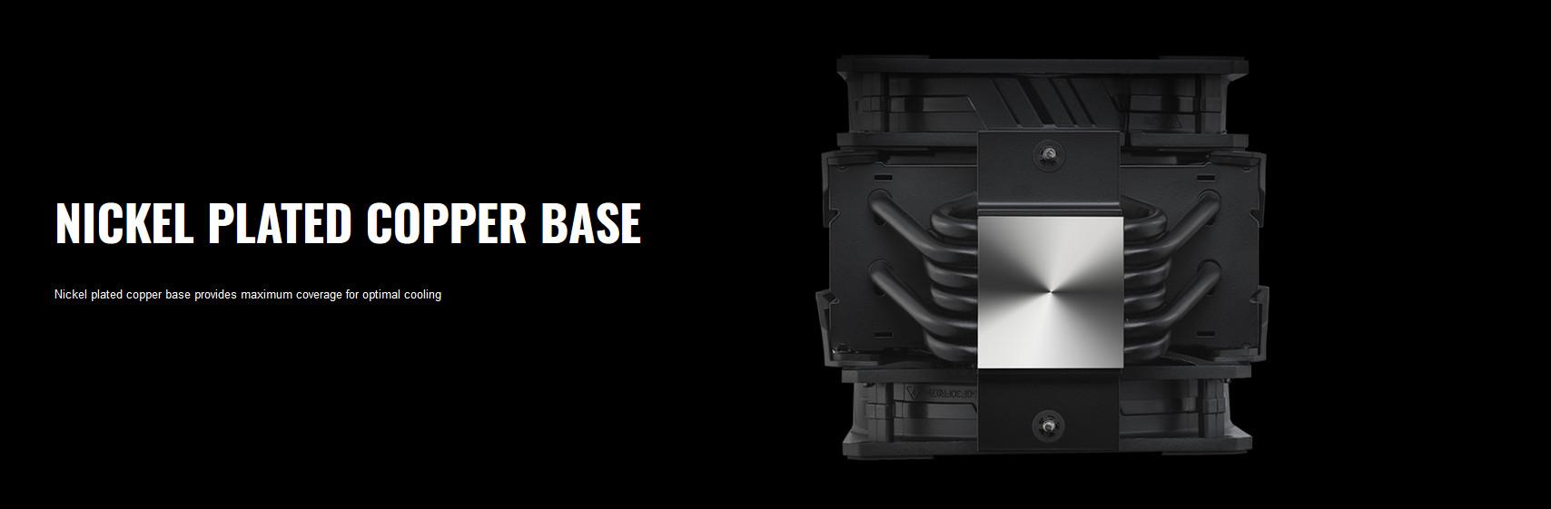 Tản nhiệt khí Cooler Master MasterAir MA612 Stealth với bề mặt tiếp xúc đồng mạ nickel phẳng - hấp thụ nhiệt nhanh chóng