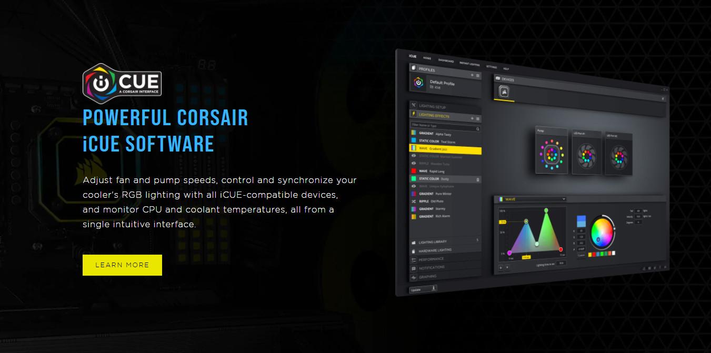 Corsair H150i Elite Capellix có thể chỉnh LED RGB với iCue