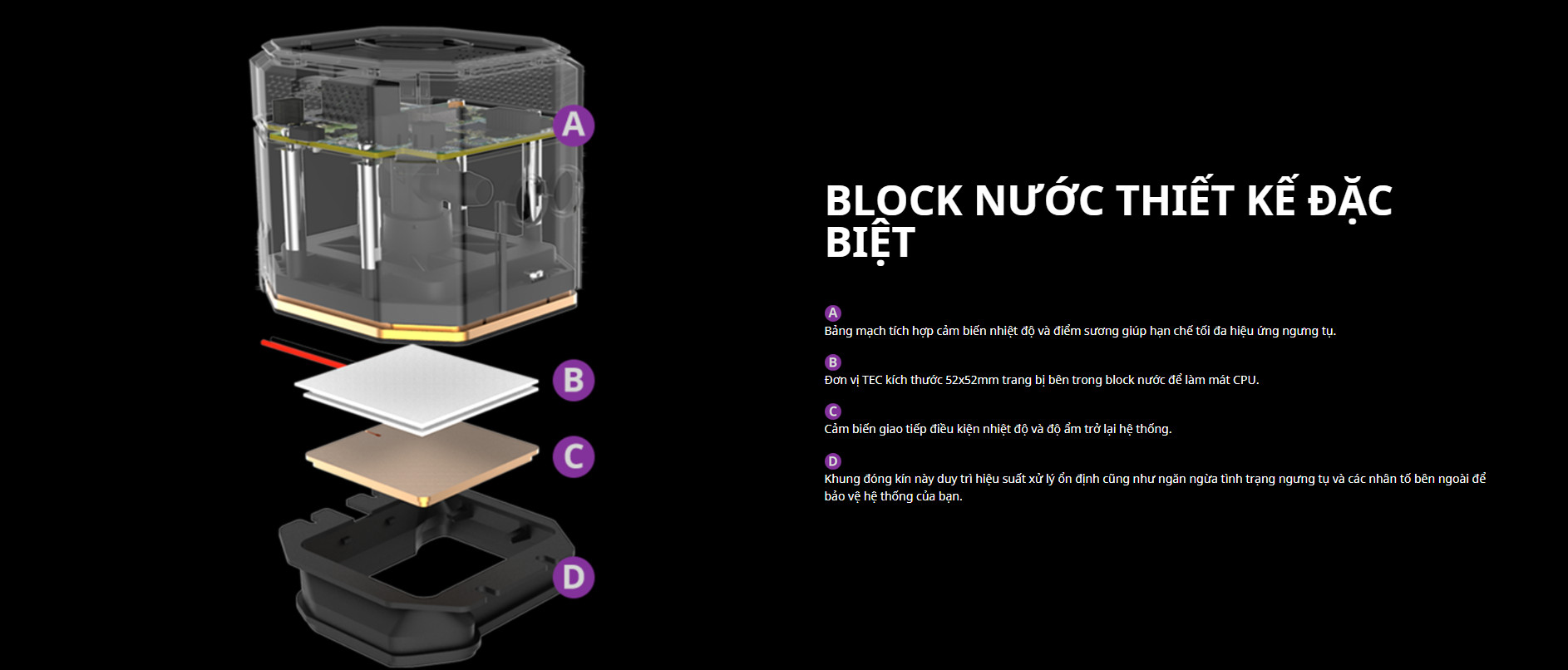 Tản nhiệt nước Cooler Master ML360 SUB - ZERO với BLOCK NƯỚC THIẾT KẾ ĐẶC BIỆT