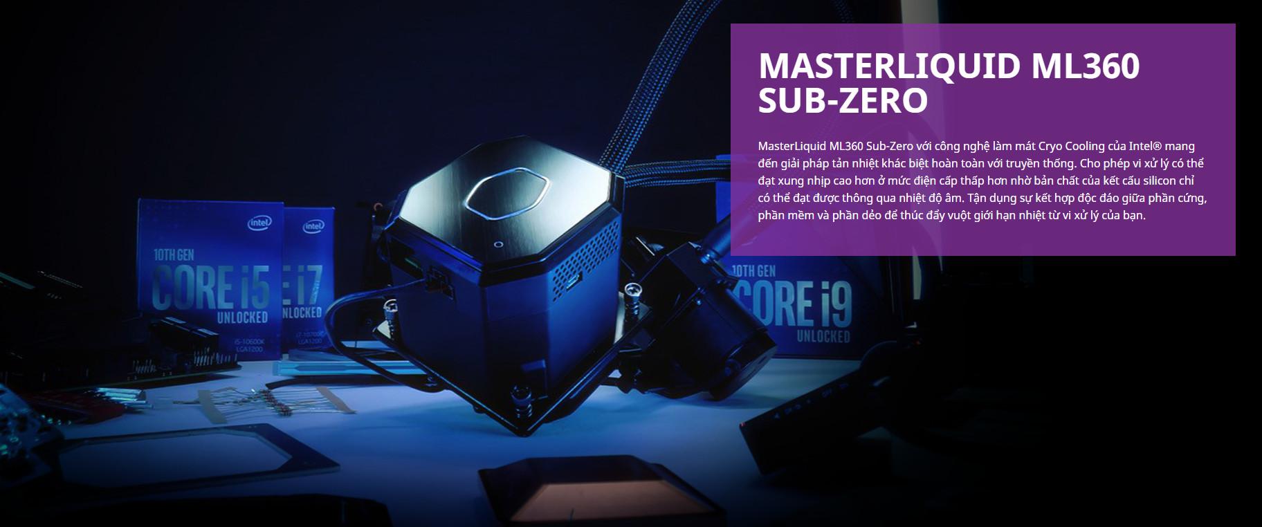 Giới thiệu Tản nhiệt nước Cooler Master ML360 SUB - ZERO
