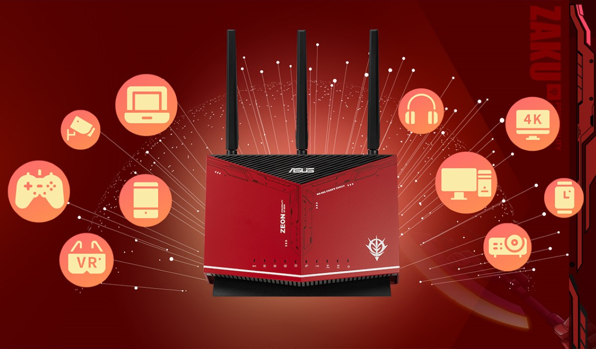 Bộ phát wifi ASUS RT-AX86U GUNDAM EDITION AX5700 1