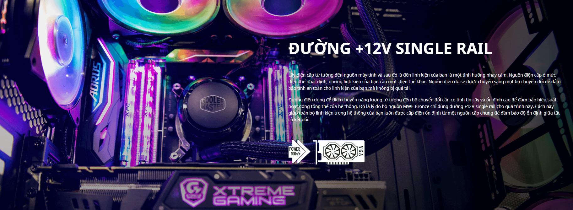 Nguồn máy tính Cooler Master MWE V2 230V 750 750W Plus Bronze (80 Plus Bronze/Màu Đen) intro 3