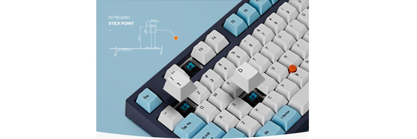 Bàn phím cơ Leopold FC750R SP Brown switch (White Skyblue) sử dụng bộ switch Cherry MX đến từ Đức