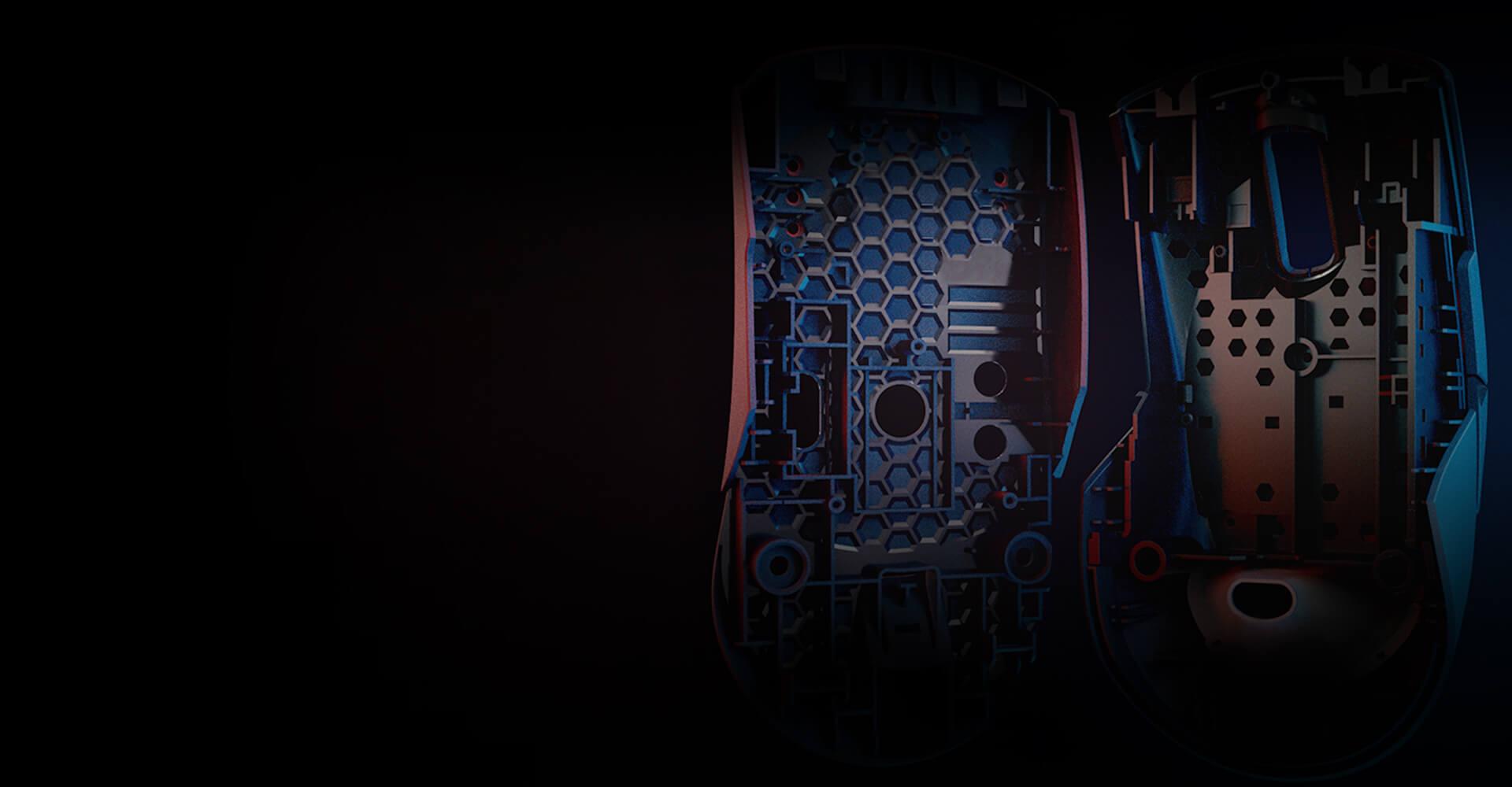 Chuột Asus ROG Keris (USB/RGB/màu đen) có thiết kế siêu nhẹ