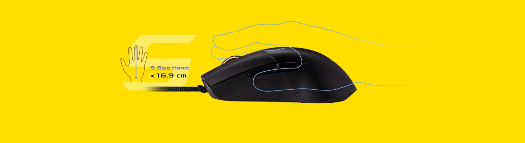 Chuột Asus ROG Keris (USB/RGB/màu đen) có form ergonomic quen thuộc