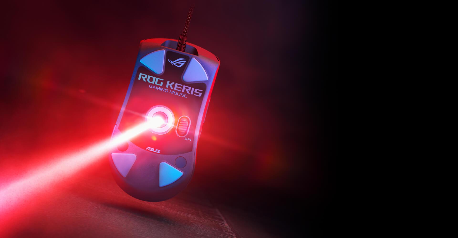 Chuột Asus ROG Keris (USB/RGB/màu đen) trang bị mắt cảm biến cao cấp