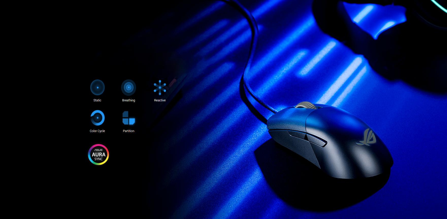 Chuột Asus ROG Keris (USB/RGB/màu đen) có thể tuỳ chỉnh thông qua phần mềm