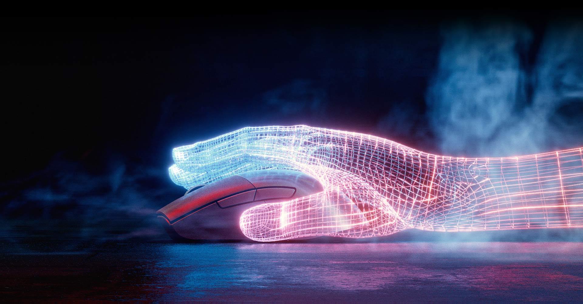 Chuột không dây Asus ROG Keris (USB/RGB/màu đen) có thiết kế công thái học