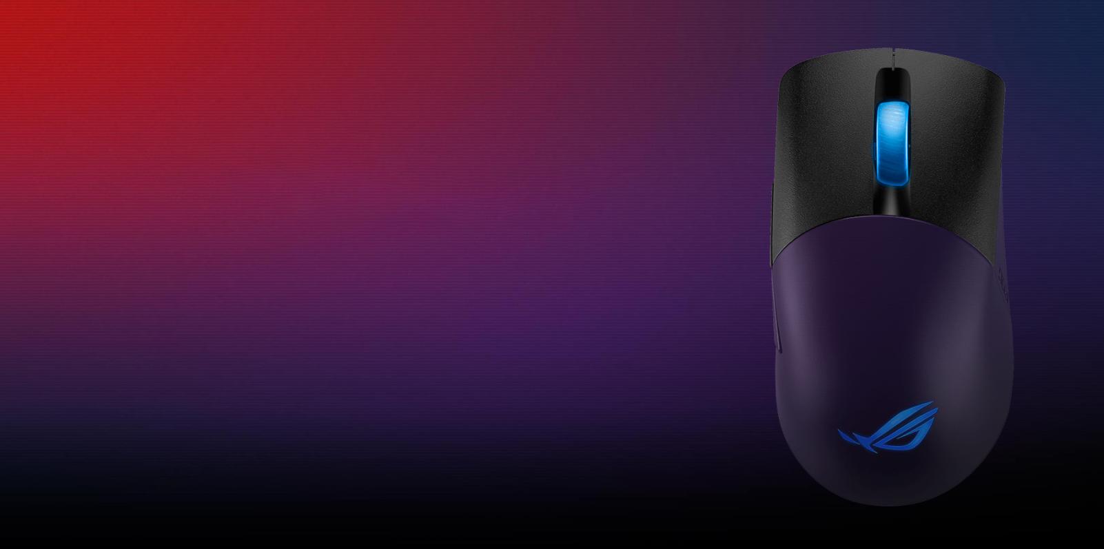 Chuột không dây Asus ROG Keris (USB/RGB/màu đen) có thiết kế nút bấm chất liệu cao cấp