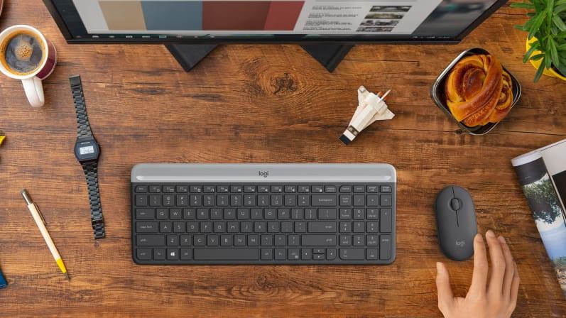 Bộ bàn phím + chuột không dây Logitech MK470 (USB/màu đen)  có kết nối không dây đáng tin cậy
