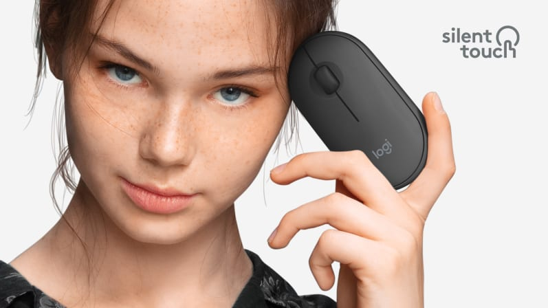 Bộ bàn phím + chuột không dây Logitech MK470 (USB/màu đen)  có độ ồn thấp