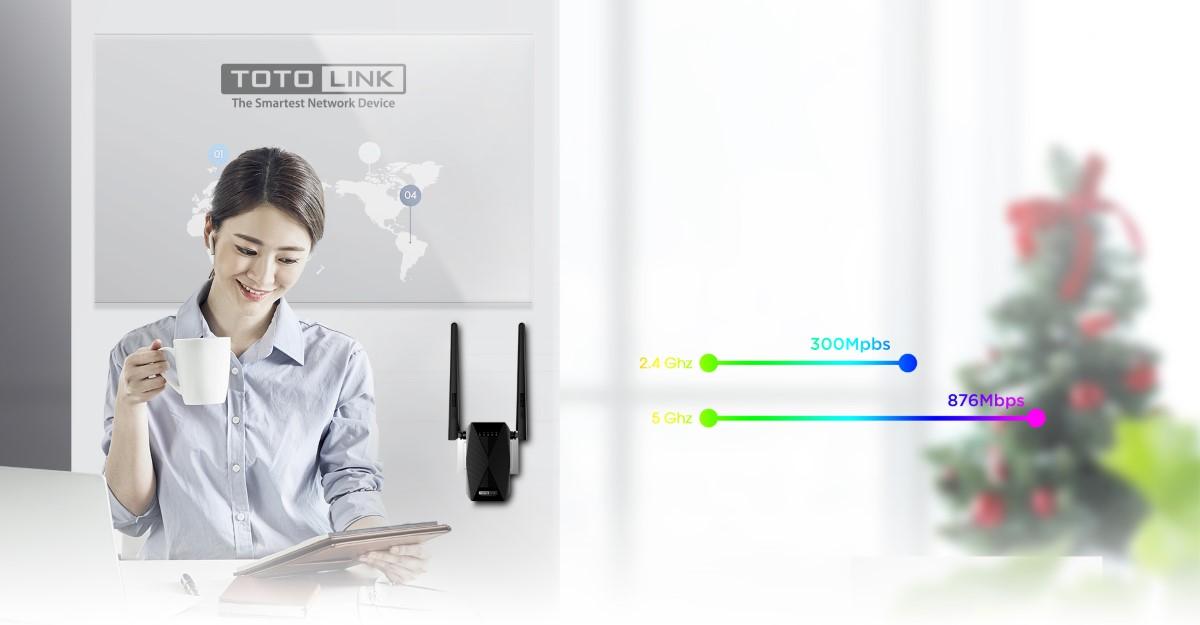 Bộ Mở Rộng Sóng wifi Totolink EX1200T chuẩn AC1200