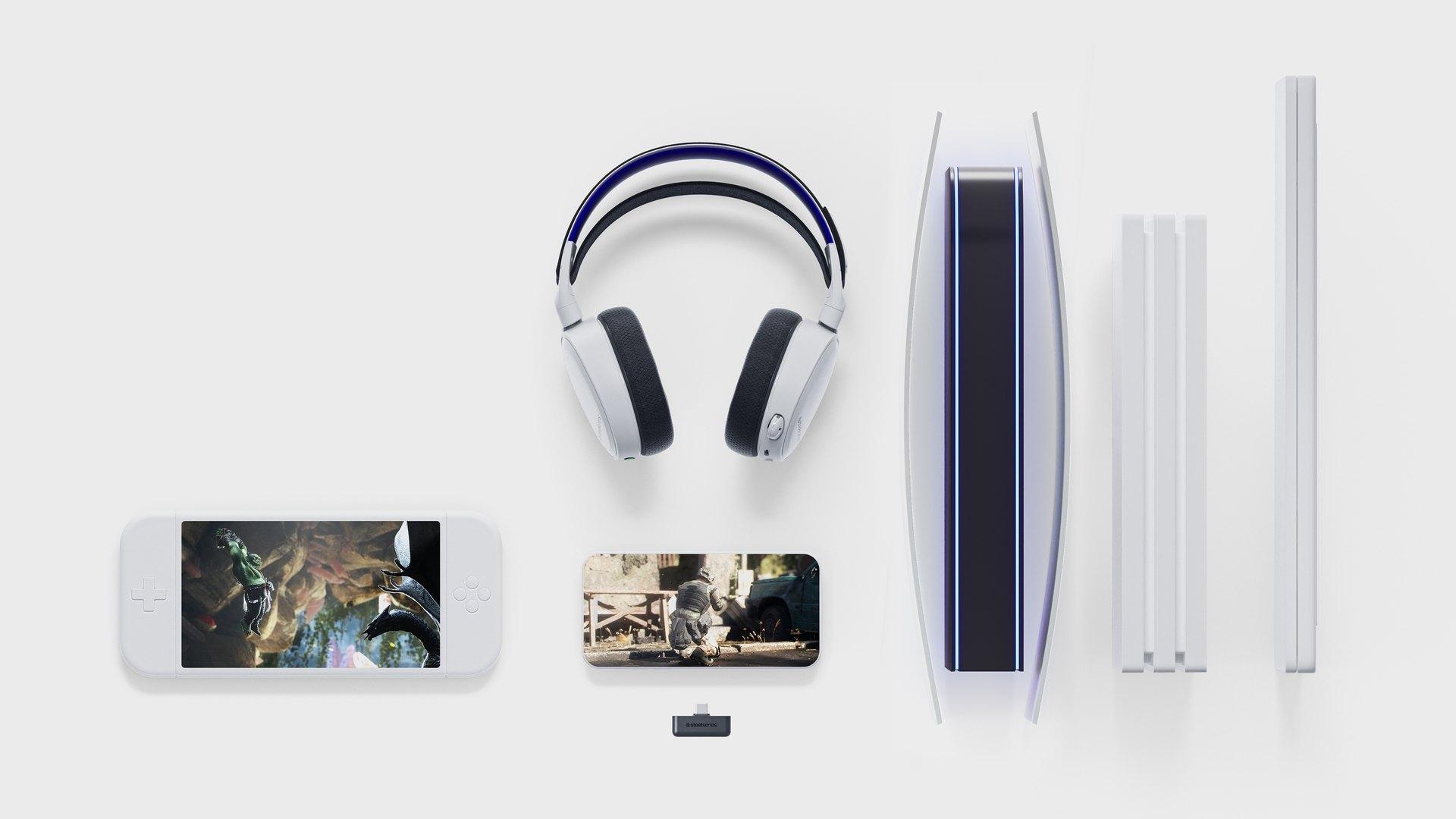 Tai nghe Steelseries Arctis 7P White WL HS-00021 - 61467 tương thích với nhiều loại thiết bị