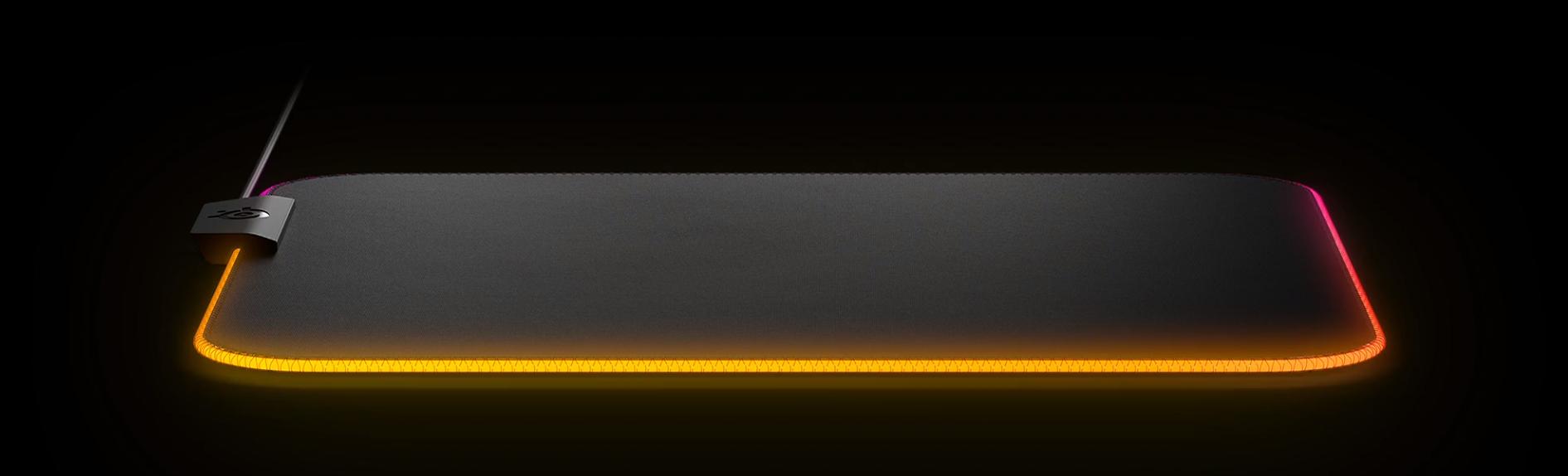 Bàn di chuột SteelSeries QcK Prism Cloth 3XL - 63511 (1220 x 590 x 4 mm) tích hợp led RGB nhiều hiệu ứng
