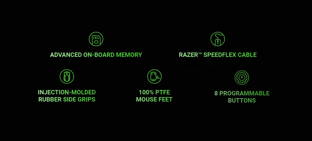 Chuột chơi game Razer Viper 8KHz (USB/RGB/Đen) (RZ01-03580100-R3M1) cho hiệu năng hoạt động tốt