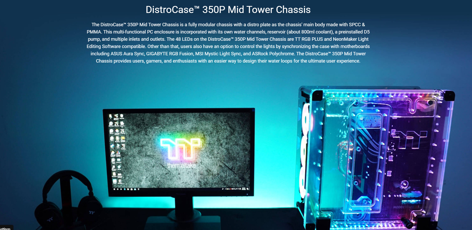 Giới thiệu Vỏ Case Thermaltake DistroCase 350P Mid Tower Chassis