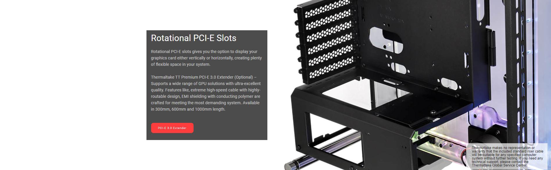 Vỏ Case Thermaltake DistroCase 350P Mid Tower Chassis với khe PCI có khả năng xoay dọc
