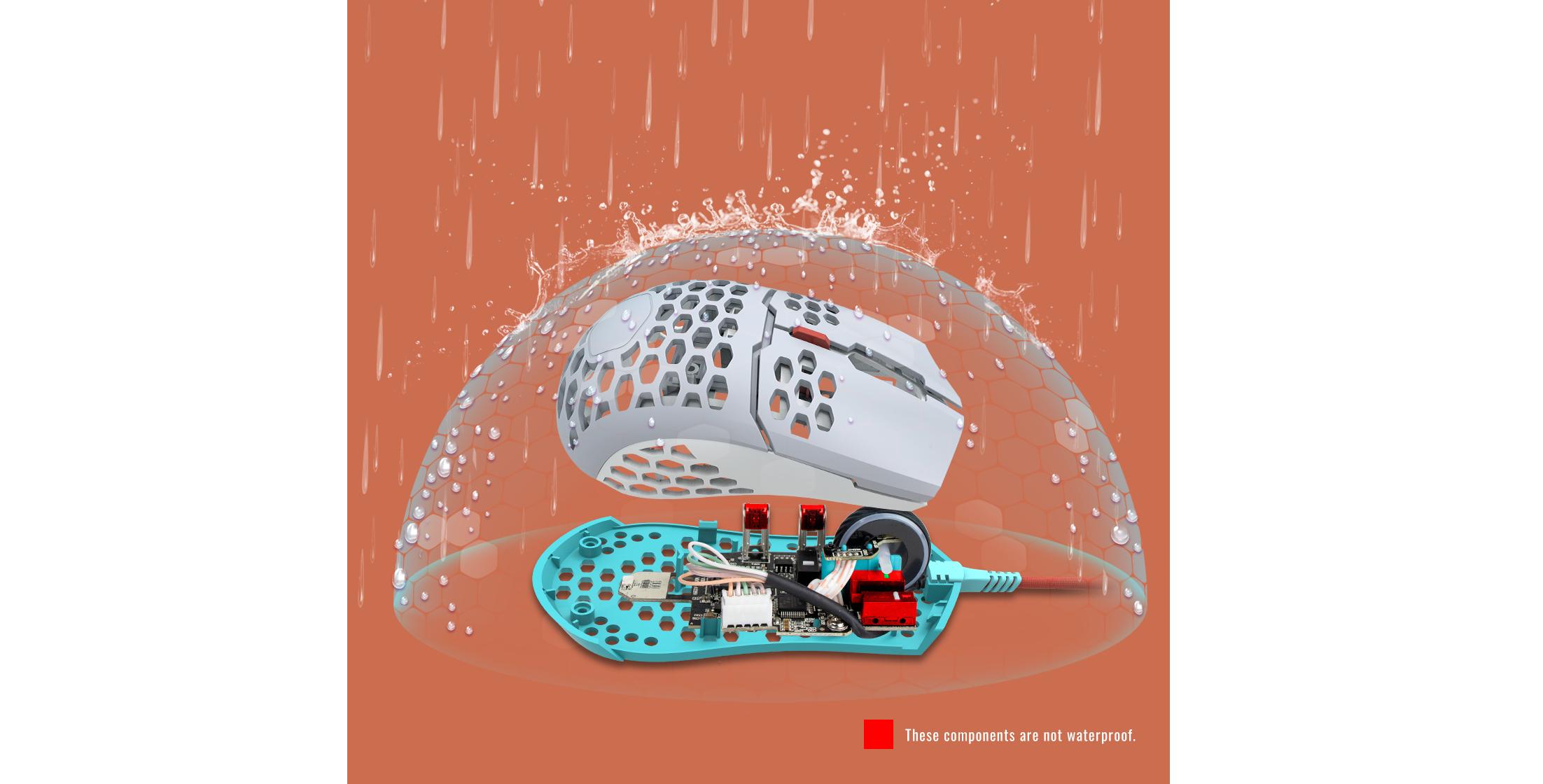 Chuột Cooler Master MM711 Retro (USB/RGB/Trắng) có tính năng chống nước hiệu quả