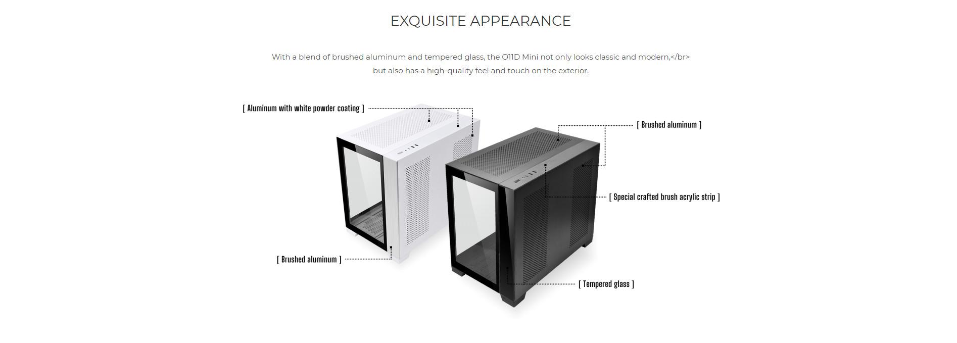 Vỏ case Lian Li O11 Dynamic Mini White màu trắng