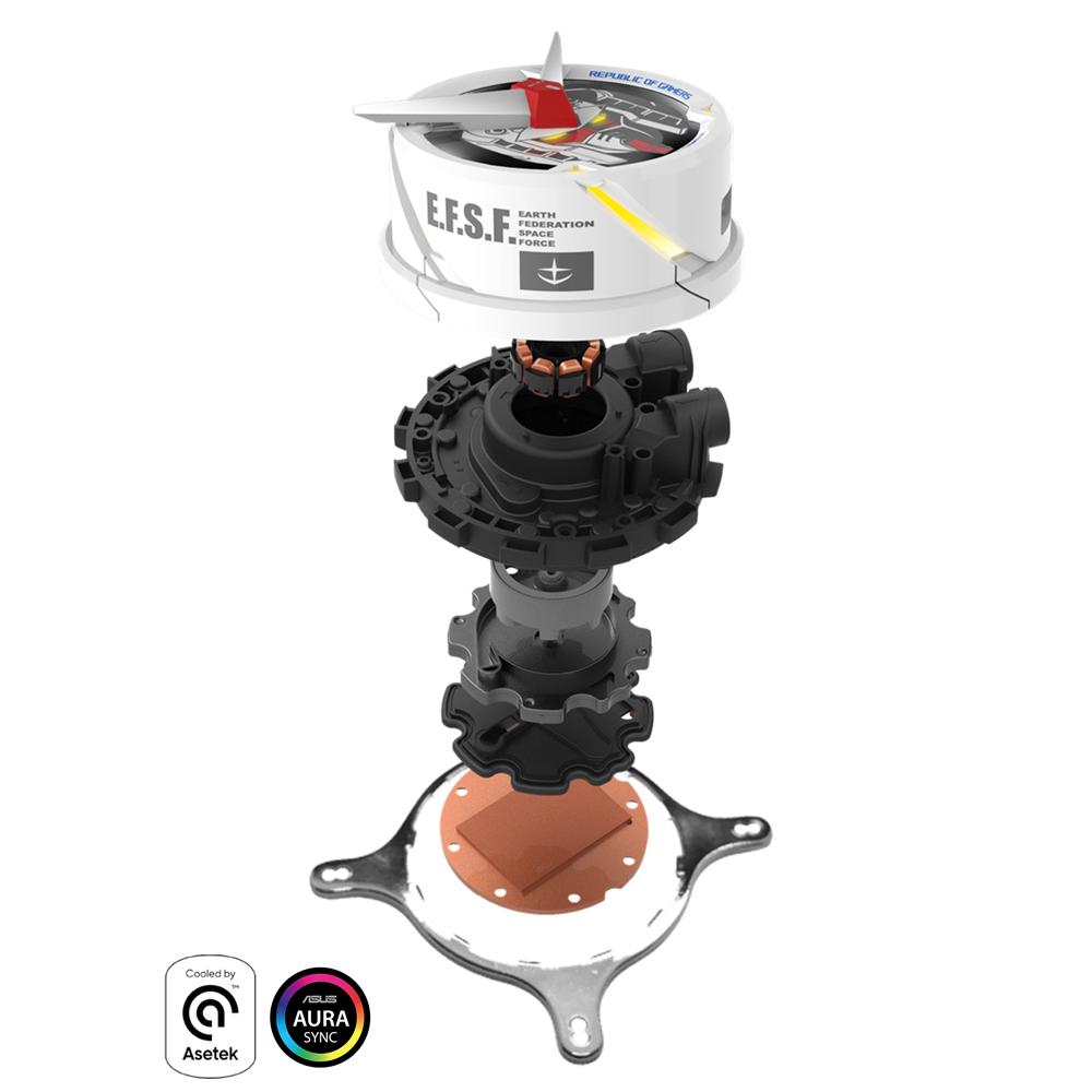 Tản nhiệt nước ASUS ROG STRIX LC 360 RGB GUNDAM với hệ thống bơm chất lượng