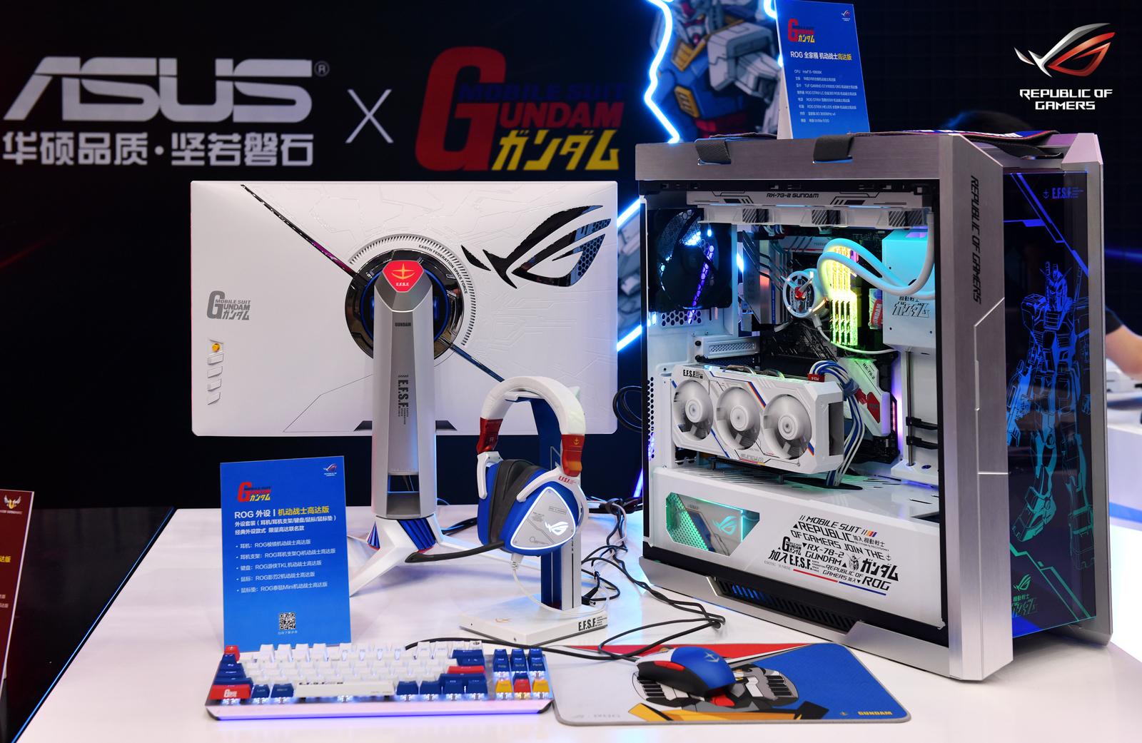 Tai nghe Asus ROG Delta Gundam LTD tích hợp tính năng aura-sync