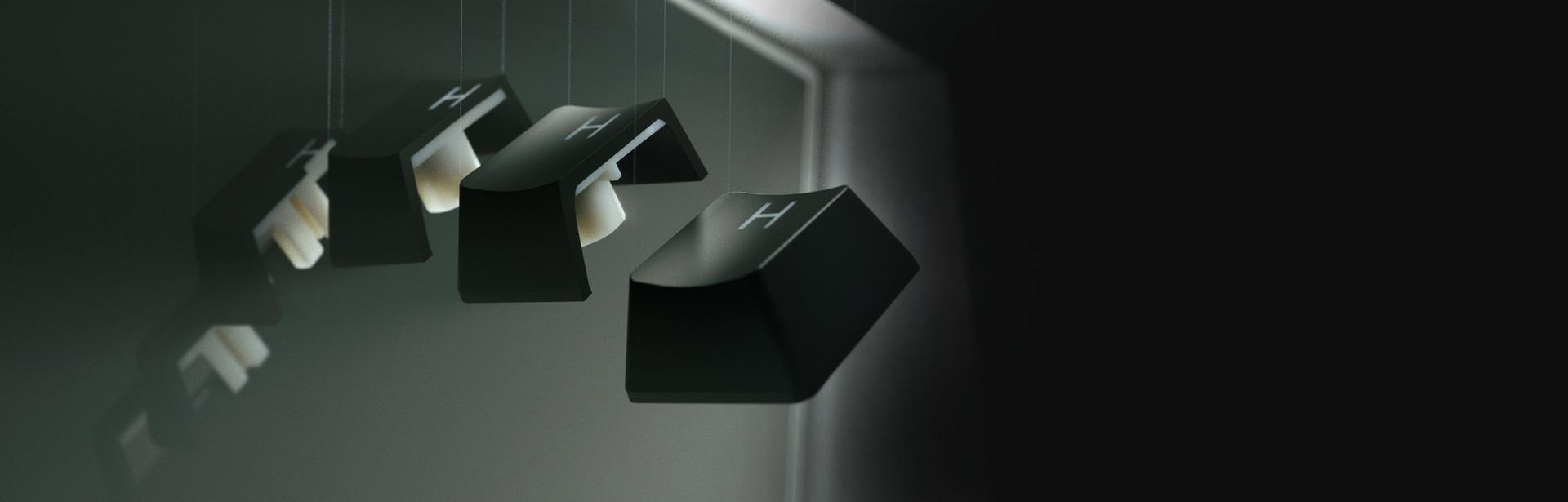 Bàn phím Razer Huntsman V2 Analog (USB/RGB/Đen)(RZ03-03610100-R3M1)  sử dụng bộ keycap pbt doubleshot bền bỉ