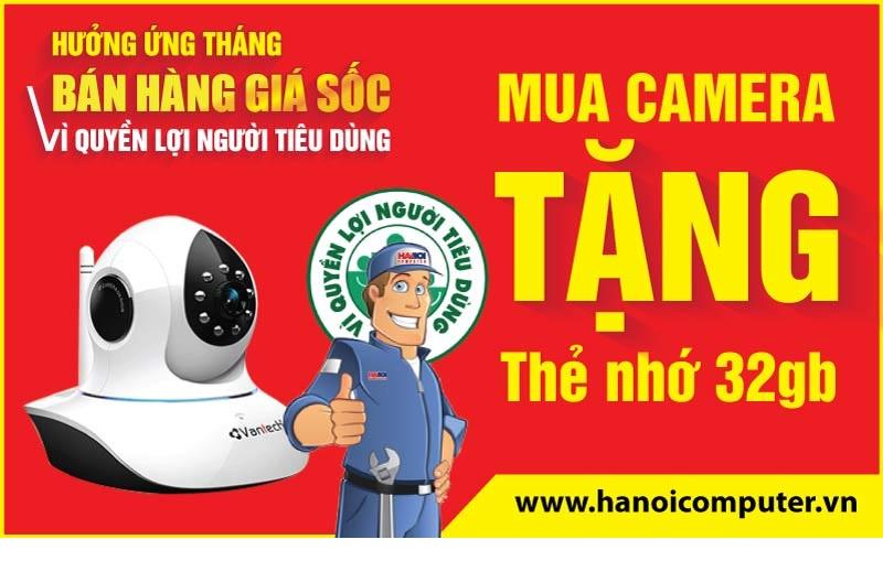 Tặng khách hàng thẻ nhớ 32G khi mua Camera Vantech và Ebitcam