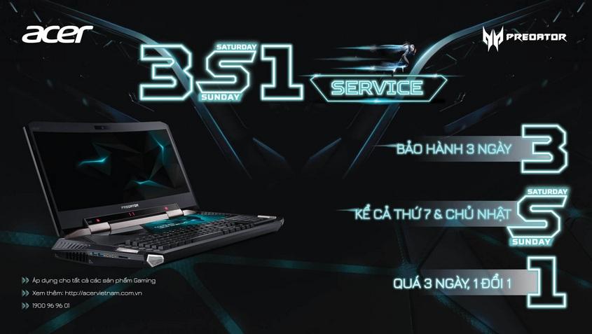 Chính Sách Bảo Hành 3S1 Cho Các Sản Phẩm Acer Gaming