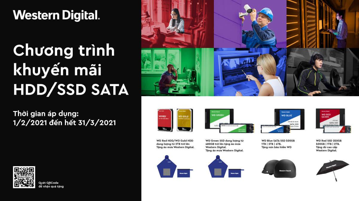 Chương Trình Khuyến Mãi Tặng Quà Hấp Dẫn Cho HDD/SSD SATA WD & GAMING WD BLACK