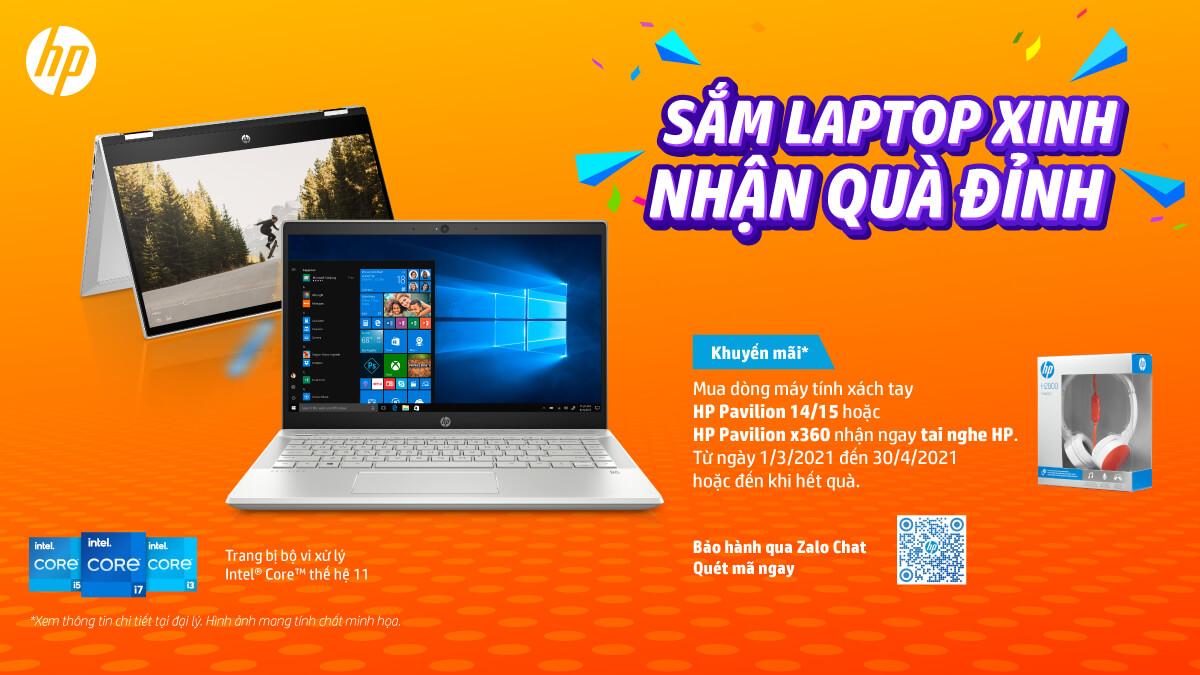 """Chương trình Khuyến mãi """"Sắm Laptop Xinh, Nhận Quà Đỉnh"""" cùng Laptop HP"""