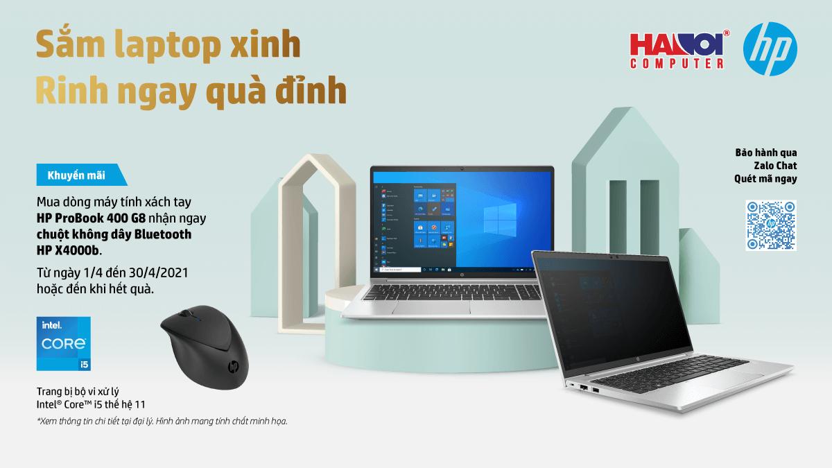 """Chương trình Khuyến mãi """"Sắm Laptop HP ProBook 400 G8, Rinh Ngay Quà Đỉnh"""""""