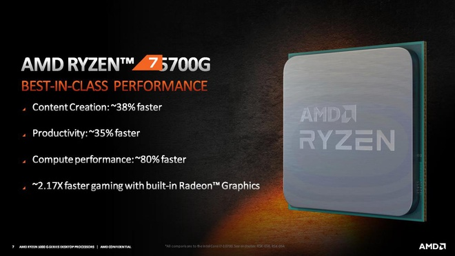 AMD công bố loạt vi xử lý Ryzen 5000G với đồ họa Radeon tích hợp