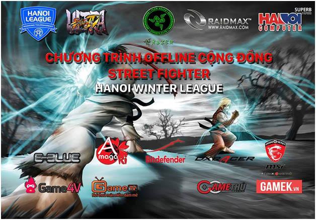 CHƯƠNG TRÌNH OFFLINE CỘNG ĐỒNG STREET FIGHTER MÙA ĐÔNG- HANOI WINTER LEAGUE 2015