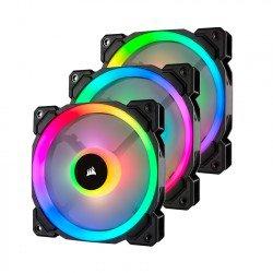 Fan Case Corsair LL120 RGB 120mm Dual Light Loop RGB LED 3 Fan Pack with Lighting Node PRO