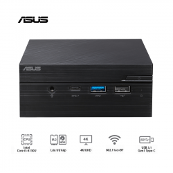Mini PC Asus PN60 (i3-8130U/WL/Vesa Mount/Com Port/Đen) (BB3016MC)