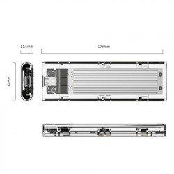 Box ổ cứng NVMe M.2 SSD ORICO TCM2-C3 Type C - Tốc độ 10Gbps
