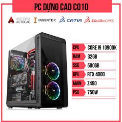 PC Dựng CAD C010 (i9-10900K/Z490/32GB RAM/RTX 4000/500GB SSD/750w)