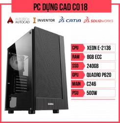 PC Dựng CAD C018 (E-2136/C246/8GB RAM/240GB SSD/Quadro P620/500w)