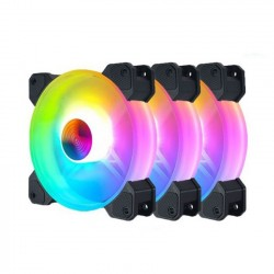 Fan Case Coolmoon Y1 LED RGB (3 Fan Pack / Kèm điều khiển)
