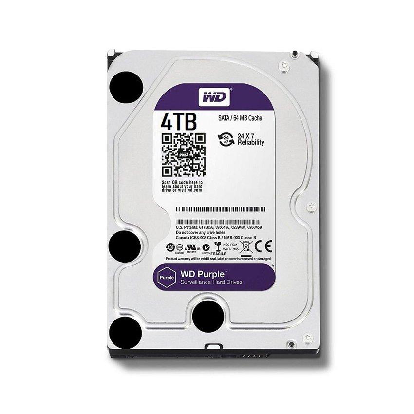 Ổ cứng HDD Western Purple 4TB 3.5 inch 5400RPM, SATA3 6Gb/s, 64MB Cache