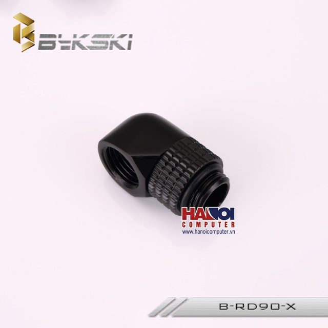 Fitting Bykski Adapter 90* Male - Female Rotary Matt Black