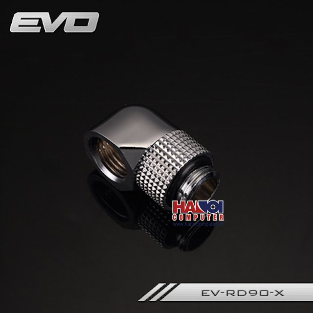 Fitting Bykski Adapter 90* Male - Female Rotary Silver Shining