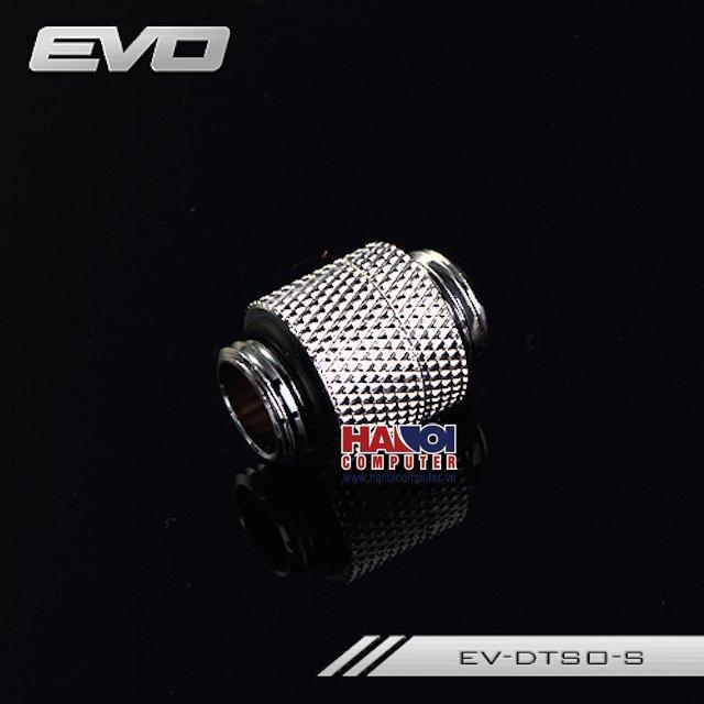 Fitting Bykski Male-Male Rotary 10mm Silver Shining