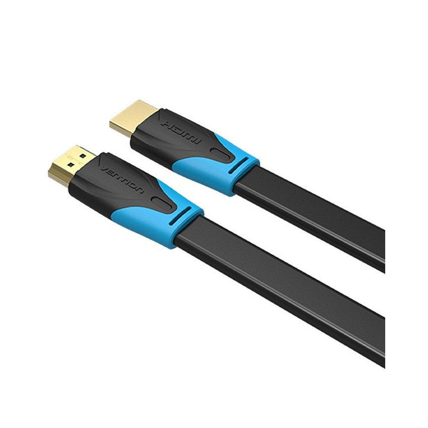 Cáp HDMI 2m Vention VAA-B02-L200, dẹt, chuẩn 1.4