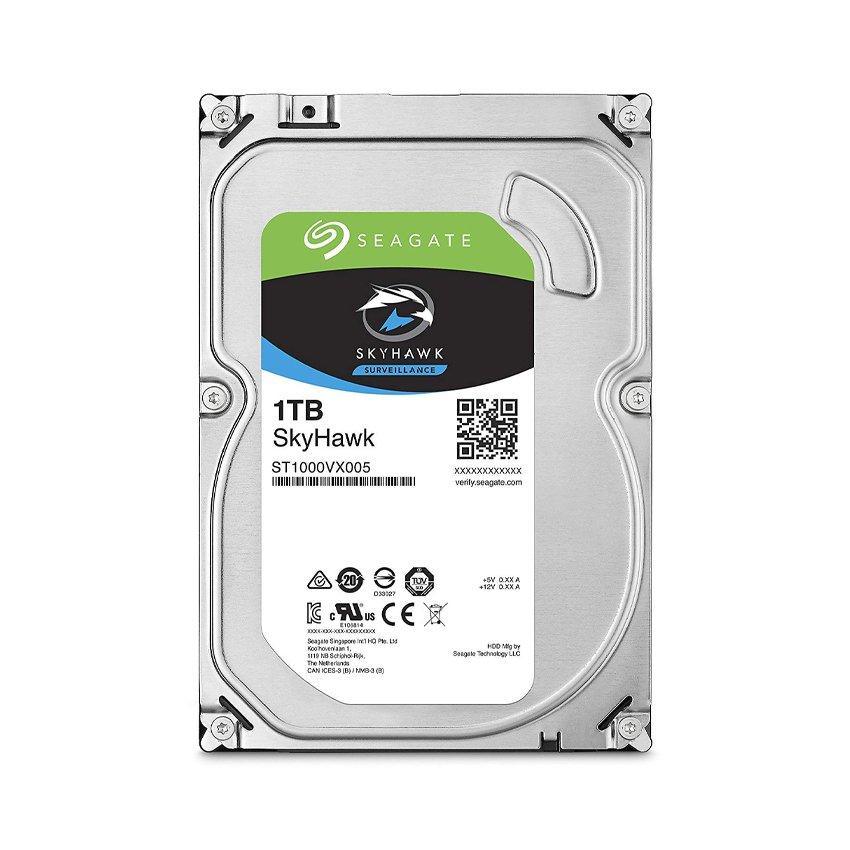 Ổ cứng HDD Seagate SkyHawk 1TB 3.5 inch 5900RPM, SATA3 6GB/s, 64MB Cache - (ST1000VX005)
