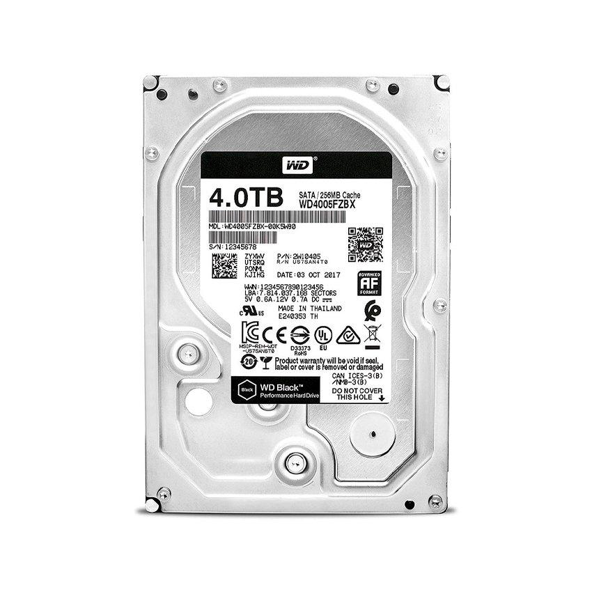 Ổ cứng HDD WD 4TB Black 3.5 inch, 7200RPM, SATA3, 256MB Cache (WD4005FZBX)