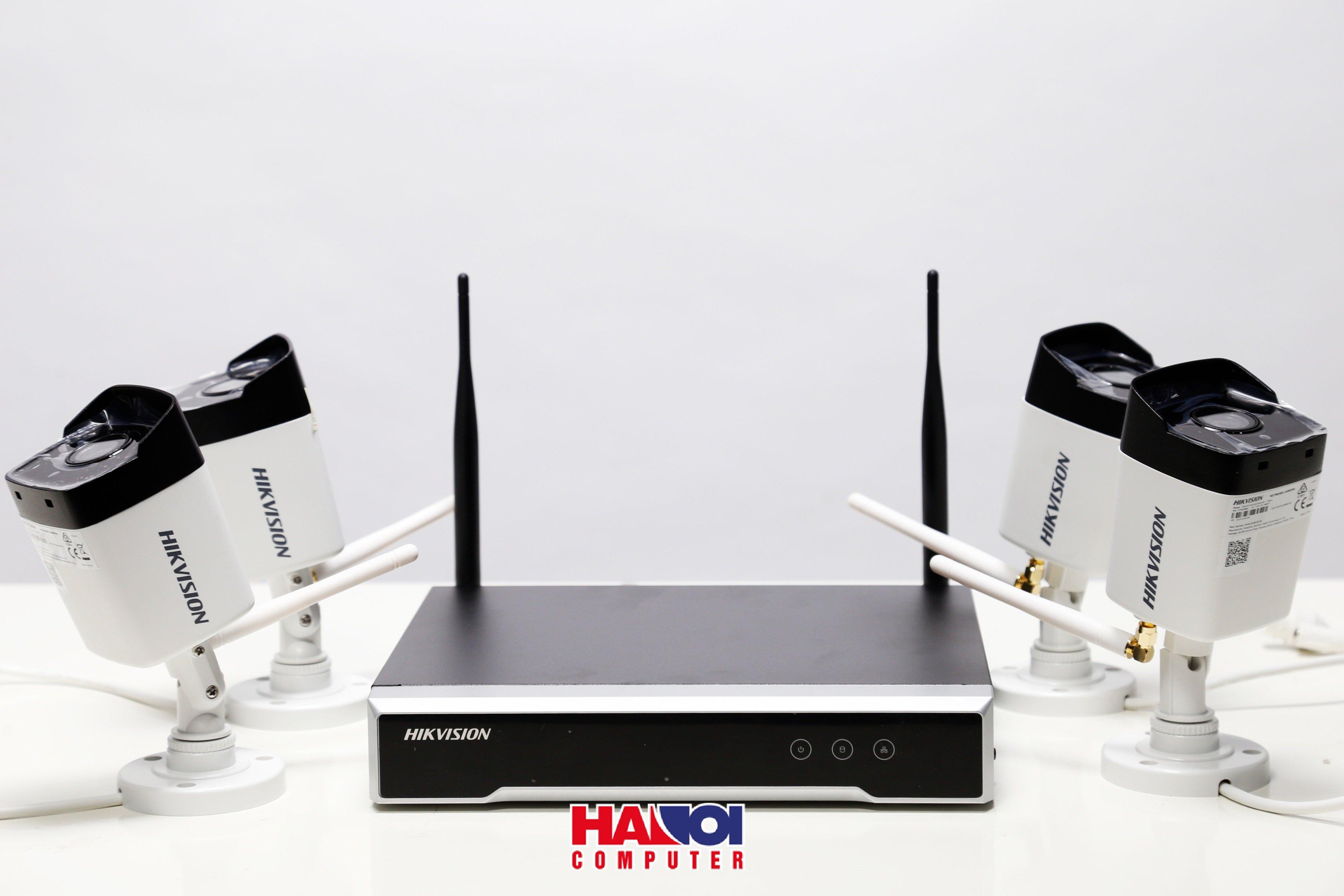 Bộ kit Camera Hikvision NK42W0 ( bao gồm 4 Camera Wifi + 1 đầu ghi hình Wifi 4 kênh )