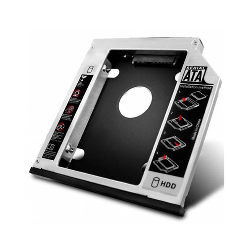 Khay lắp ổ cứng SSD cho laptop qua khay CD (Loại mỏng)