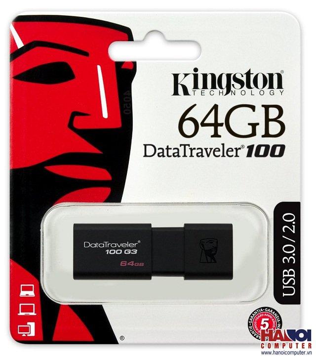 USB Kingston DT100G3 - 64GB - USB 3.0